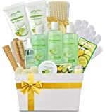 Spa Gift Baskets And Beauty Gift Basket - Melon Cucumber Spa Kit Bed and Bath Body Works Gift Baskets for Women & Men…