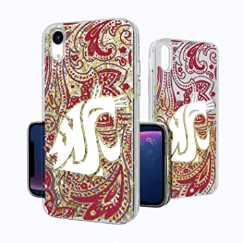 meet 6f1c1 26358 Keyscaper KGLGXR-0WST-PAISL1 Washington State Cougars iPhone XR Glitter  Case with WSU Paisley Design