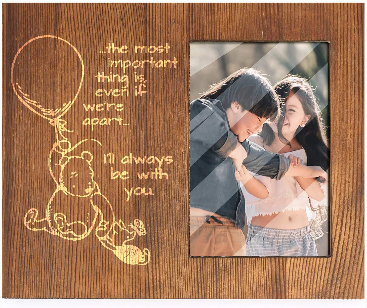 Ku-dayi I Will Always Be With You-Inspirational Winnie The Pooh Quotes Picture Photo Frame -Best Friendship Gifts for Friends, Sisters or Bridesmaid