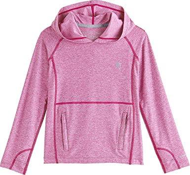 986d172d37 Amazon.com  Coolibar UPF 50+ Girl s Tempo Hoodie - Sun Protective  Clothing