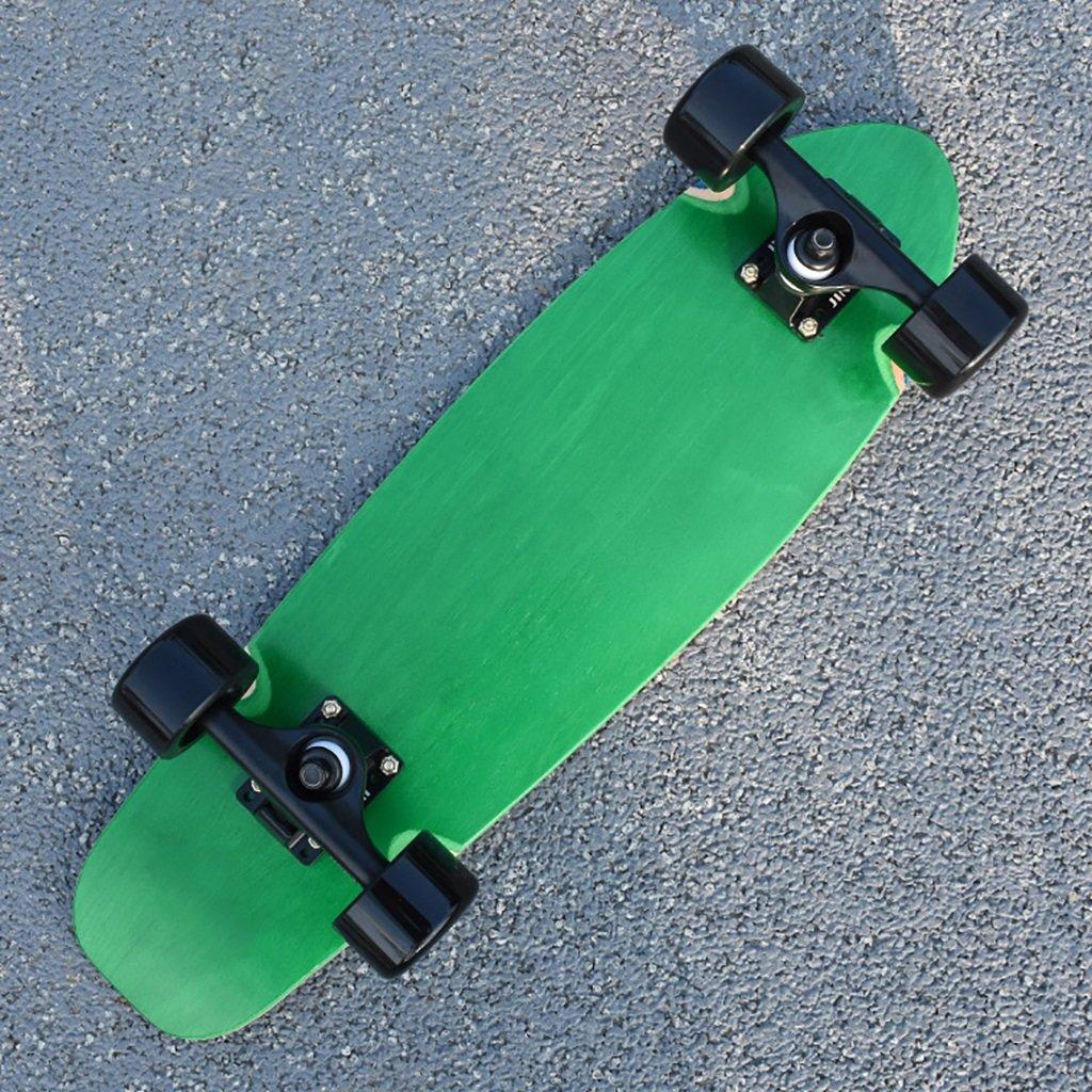 YONGLIANG B07BR36L88 アウトドアスポーツメープルアダルトブラッシュストリート四輪スケートボードトラベラーズボードクルーズボード男性と女性のスケート YONGLIANG B07BR36L88 Green Green, マニワグン:74ca974e --- integralved.hu