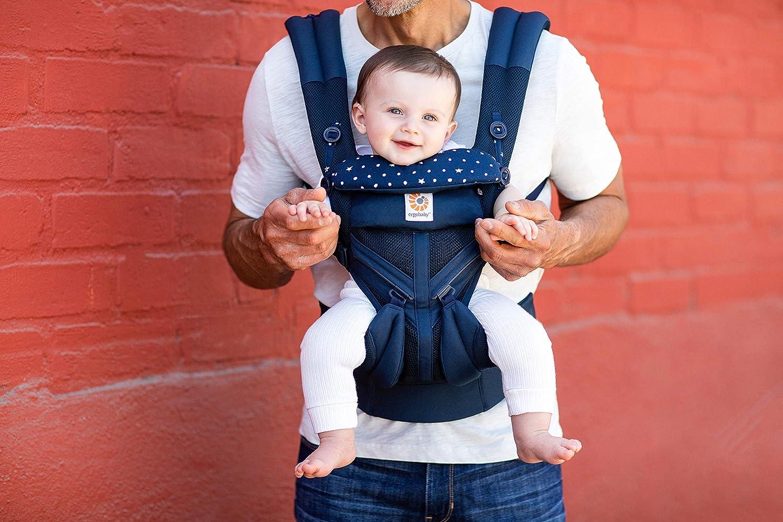 Kindertrage Tragesystem Ergobaby Babytrage f/ür Neugeborene ab Geburt bis 20kg 4in1 Omni 360 Cool Air Mesh Plum