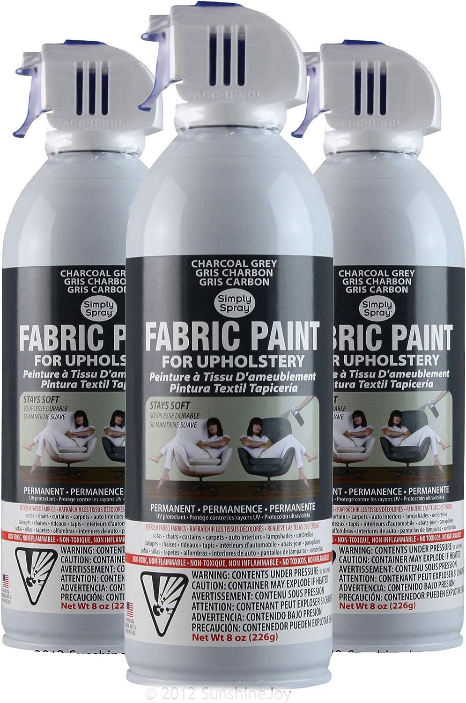 Simply Spray Pintura En Spray Para Tapicería 3 Pk, color gris