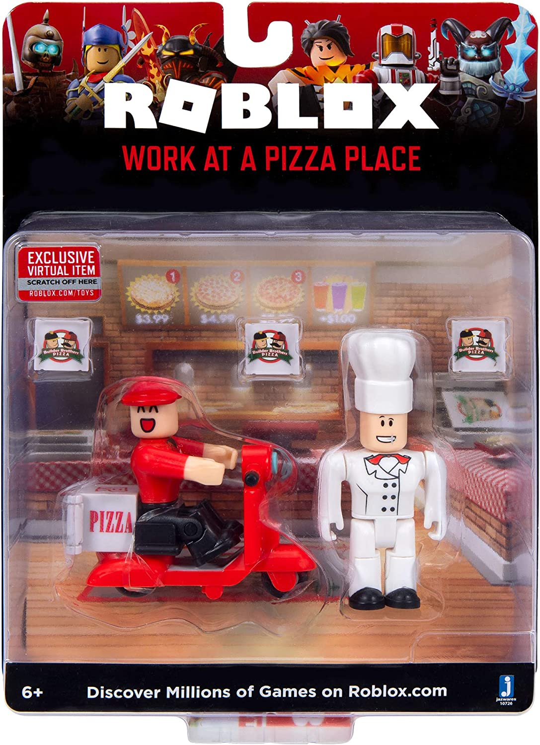 Amazon Com Roblox Action Collection Work At A Pizza Place Game