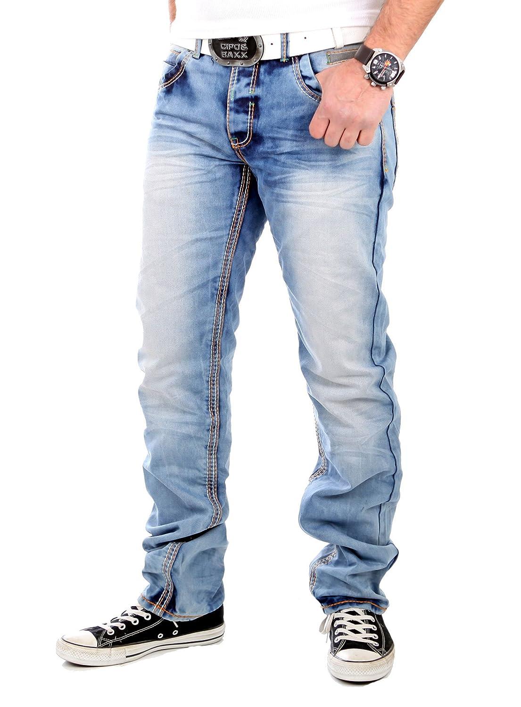 Reslad Jeans Herren Vintage Look Regular Fit Jeanshose RS-8303 Hellblau  W38  Amazon.de  Bekleidung f709e8d6f6