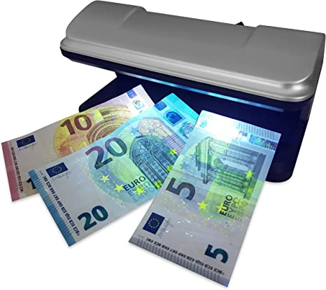 Rilevatore Documenti di Identit/à e Carte di Credito DIVADIS Verifica Banconote Finte con LED UV