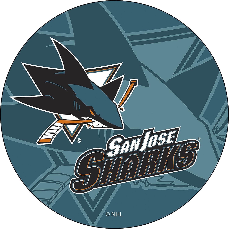 Trademark Gameroom NHL2000-SJS-WM NHL Chrome Pub Table Watermark San Jose Sharksa