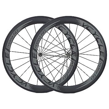 VCYCLE Nopea 700C Carbono Carretera Bicicleta Ruedas 60mm Cubierta Shimano o Sram 8/9/10/11 Velocidades: Amazon.es: Deportes y aire libre