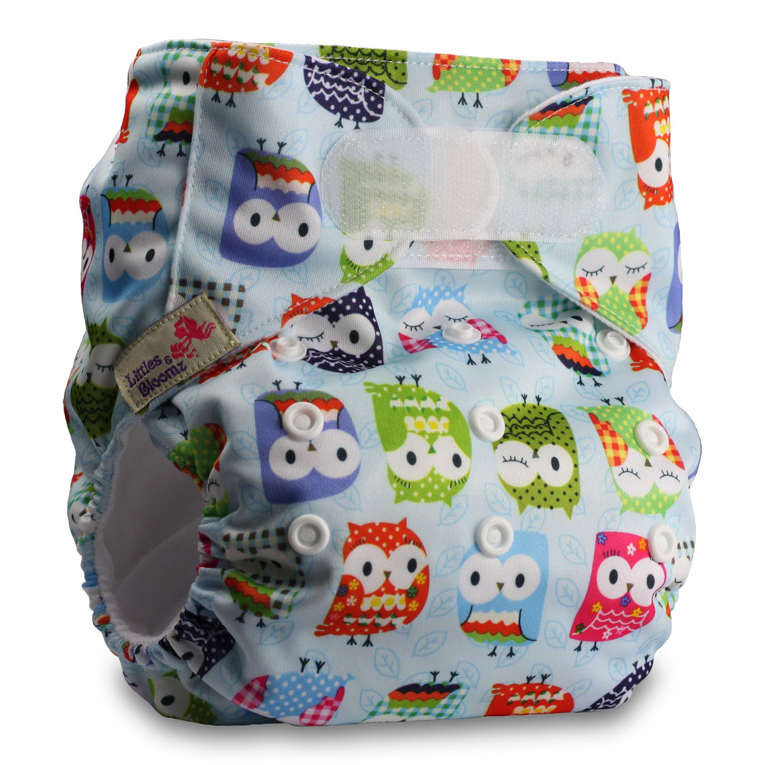 with 1 Bamboo Insert Fastener: Hook-Loop Pattern 17 Littles /& Bloomz Reusable Pocket Cloth Nappy Set of 1
