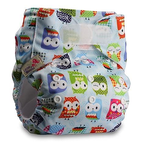 LittleBloom Beb/é Pa/ñales Lavables Pa/ñal Reutilizable Insertos Set De 1 Cierre Hook-Loop