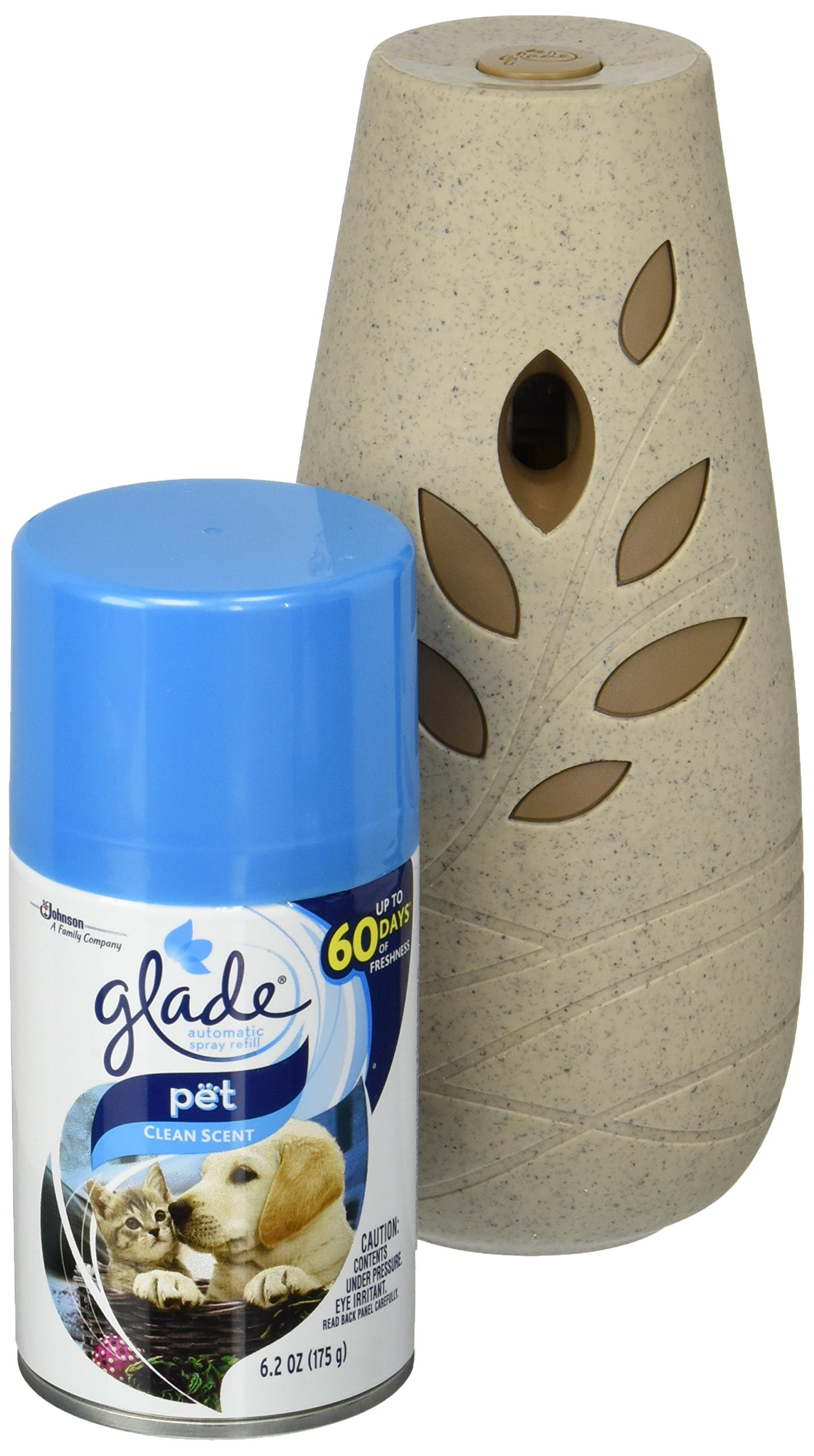 Glade Automatic Spray Air Freshener Starter Kit, Pet Clean Scent, 6.2 oz