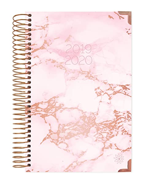 photo relating to Hardcover Daily Planner referred to as HARDCOVER bloom each day planners 2019-2020 Educational Yr Working day Planner - Pion/Intent Organizer - Month-to-month Weekly Dated Calendar Schedule Guide - (August