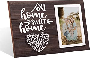 MayAvenue Home Sweet Home Wooden Family Picture Frame for New Home Housewarming Christmas Gift (Dark)