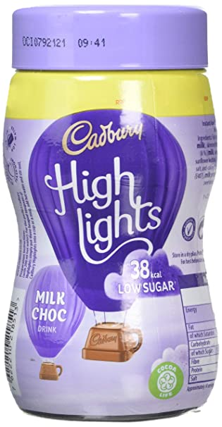 Cadbury Highlights Instant Hot Chocolate Cocoa Powder 154 G Pack Of 6