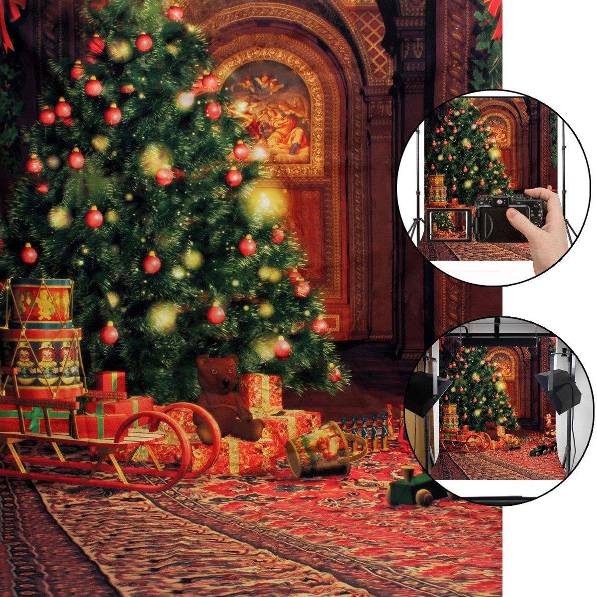 CAMTOA Weihnachts Fotohintergrund, 5X7ft Weihnachten Hintergrund ...