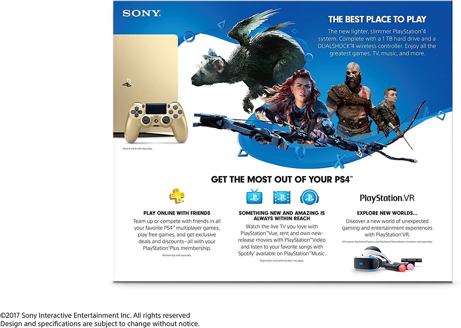 Amazon com: PlayStation 4 Slim 1TB Gold Console [Discontinued