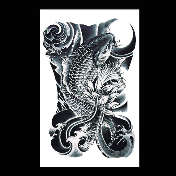 Dominante carpa simulación social tatuaje tatuaje pegatinas blanco ...