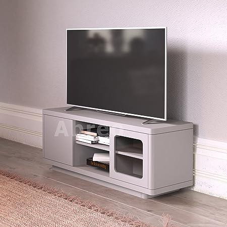 Unidad para televisión con estantes y puertas correderas, en blanco y negro, para TV de 32, 34, 40, 42, 46, 52, 55 pulgadas.: Amazon.es: Hogar