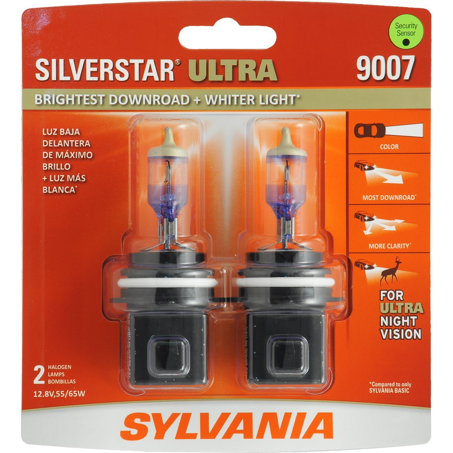 High Performance Halogen Headlight Bulb Tri-Band Technology Contains 2 Bulbs H11 SilverStar Ultra Brightest Downroad with Whiter Light SYLVANIA Low Beam and Fog Replacement Bulb High Beam