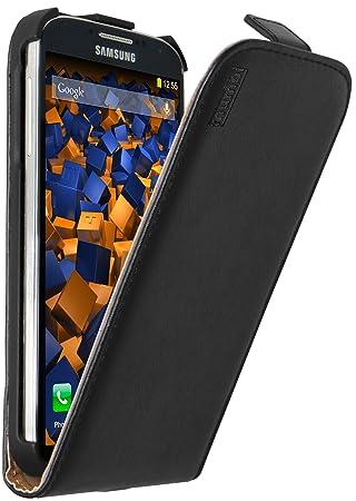 mumbi PREMIUM Leder Flip Case für Samsung Galaxy S4 Tasche