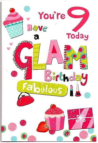 Tarjeta de cumpleaños para niña de 9 años: Amazon.es ...