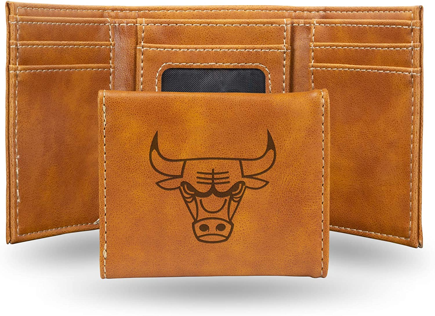NBA Rico Industries  Laser Engraved Trifold Wallet Chicago Bulls