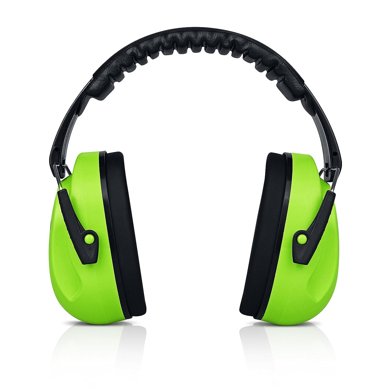 heartek Kids protección auditiva orejeras con viaje Bag- Junior protectores de oído para niños, acolchado protección para los oídos, pequeño adultos, mujeres–ajustable pantalla reducción de ruido orejeras, Azul oscuro