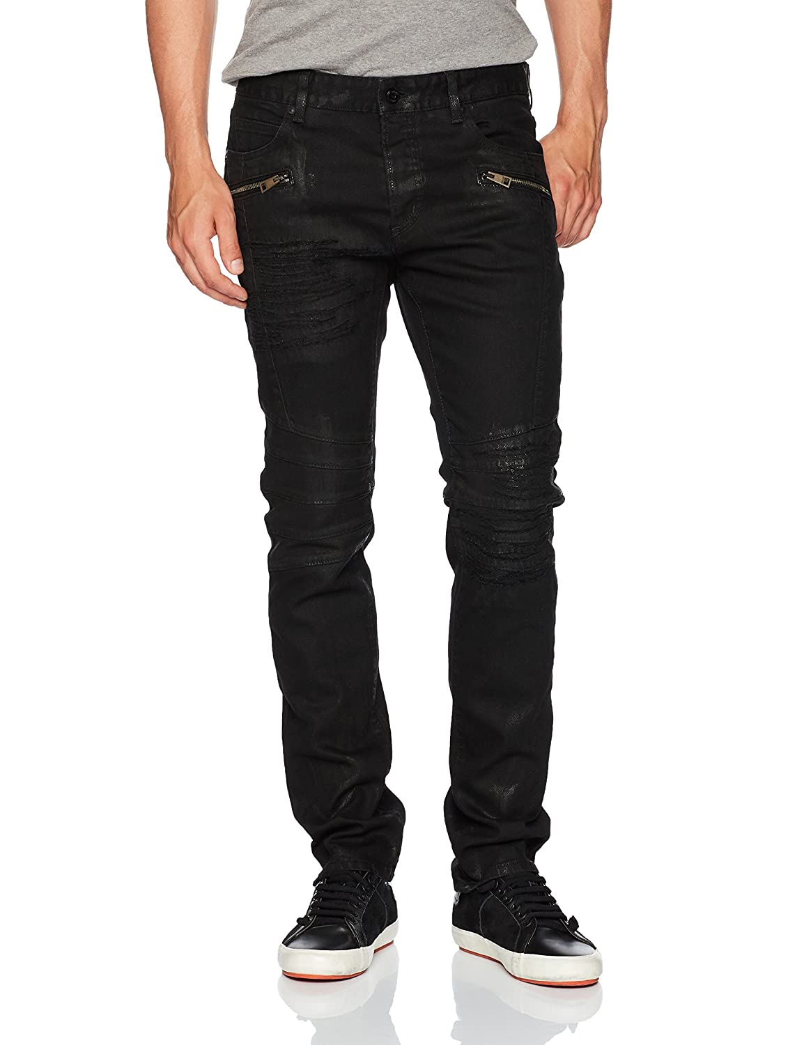 new authentic new arrive quality design Amazon.com: Just Cavalli Men's Coated Black Denim with Zip ...