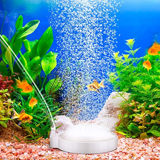 Zwini Auströmer Aquarium Luftstein Sauerstoff Stein Sprudler Aquarium Teich Luftausströmer Geeignet Für Teiche Aquarien Und Fisch Tank Ideal Für Aquarienluftpumpe 80mm Haustier