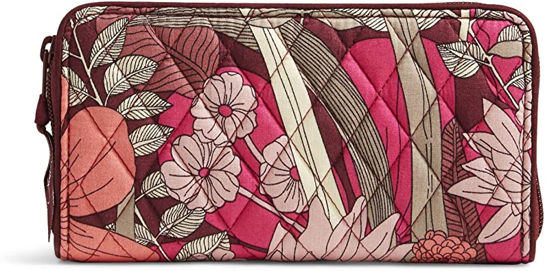 Petal Me Pretty Quilted Cotton Accordion Wristlet Wallet