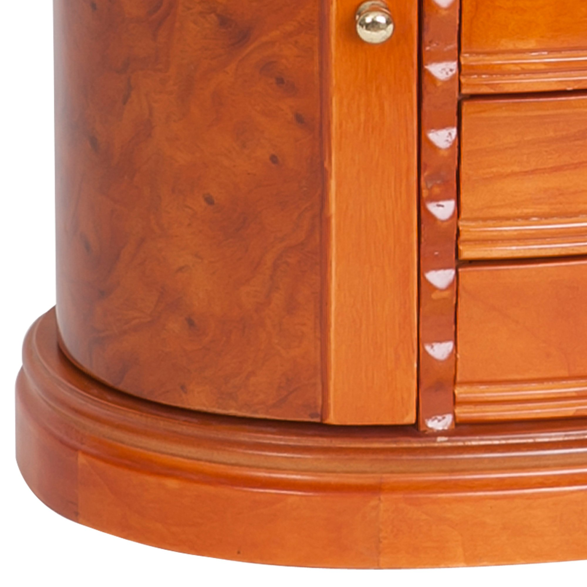 Mele & Co. Trinity Wooden Jewelry Box (Walnut Finish) by Mele & Co. (Image #4)