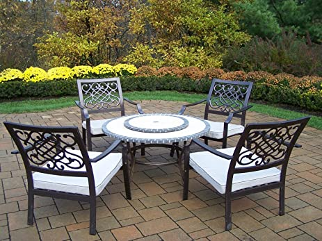amazon com oakland living stone art 42 inch table 6 piece tacoma rh amazon com Tacoma Furniture at Art Van Furniture patio chairs tacoma