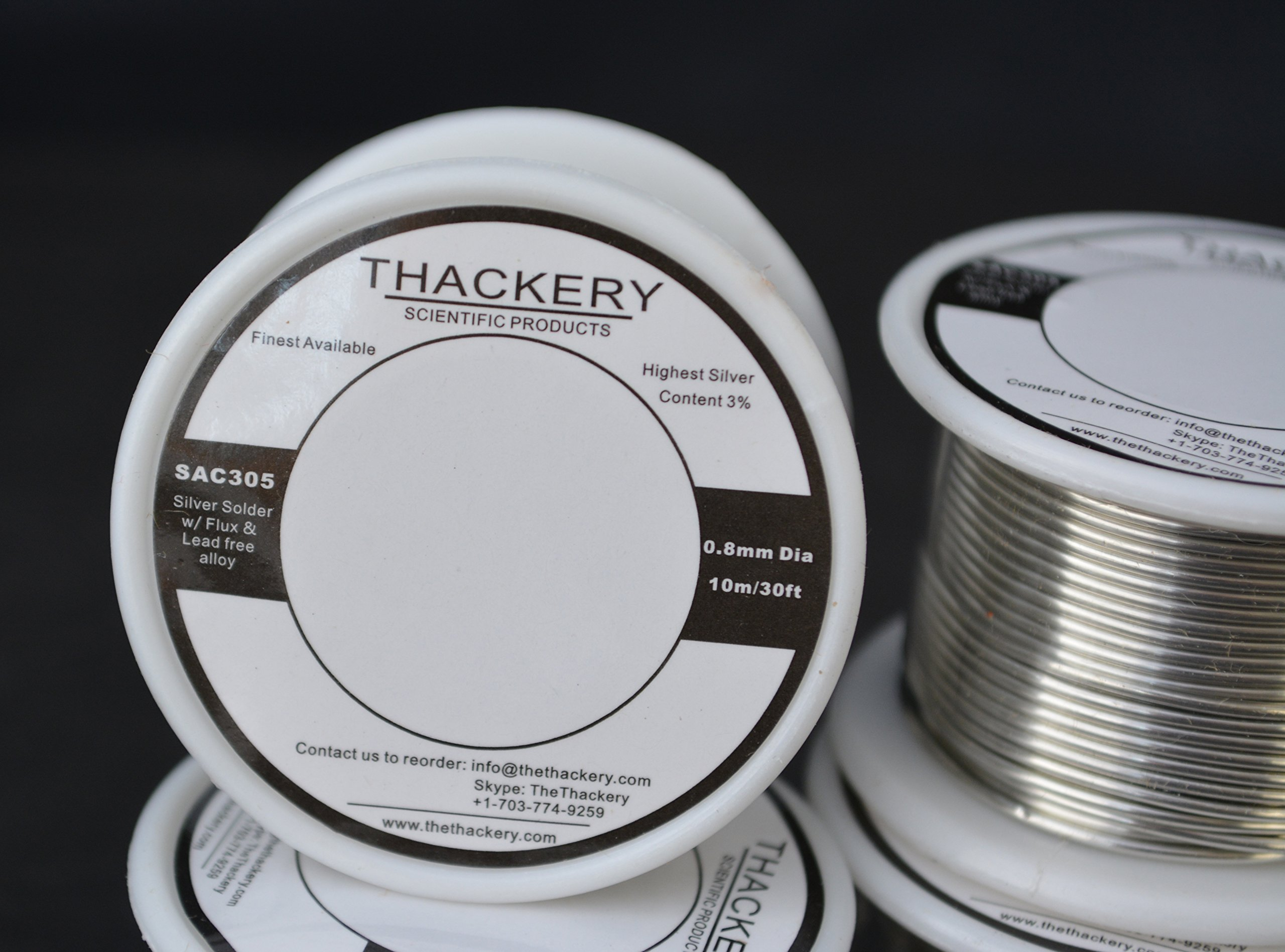 2-PACK Silver Flux Core Solder Wire SAC305 5m//15ft .5mm thick 3/% AG lead free