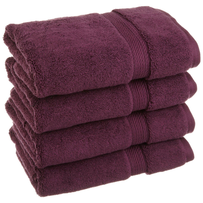 Superior 900 Gram 100% Premium Long-Staple Combed Cotton 4-Piece Hand Towel Set, White 900HANDWH