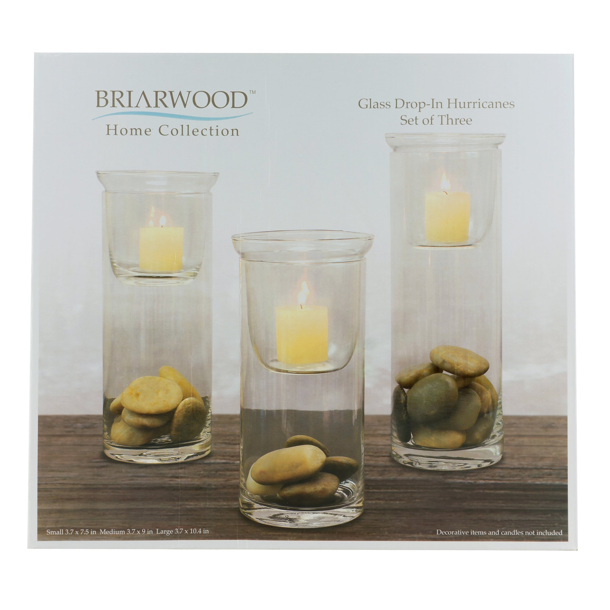Stonebriar Cylinder Glass Hurricane Set with Removable Votive Candle Holder Inserts, Traditional Home Decor for Dining Room, Living Room, and Bedroom, Decorative Centerpiece by Stonebriar (Image #4)