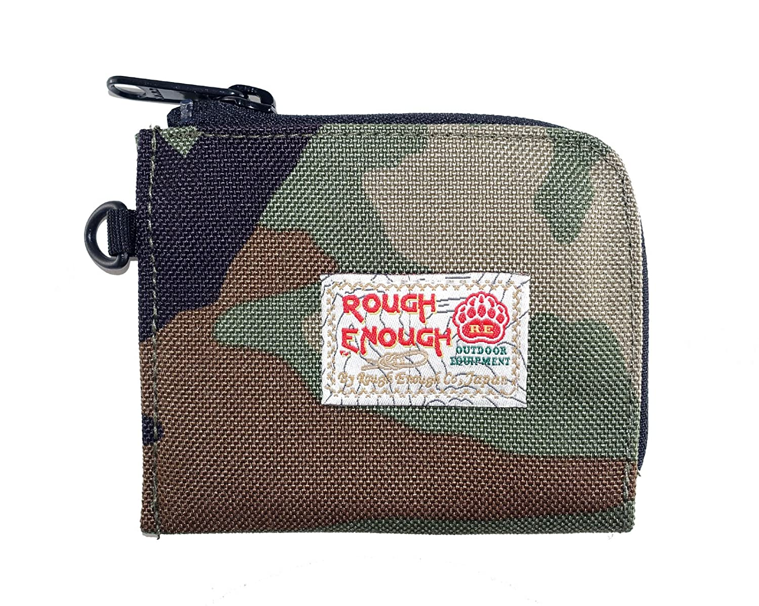 Rough Enough CORDURA Polyester Small Mini Bascis Stylish Portable Clutch Square Pocket Pouch Purse Case Bag Wallet Holder Organizer with zipper for Coins Cards Suits Boys Kids Students Men Camo ROUGH ENOUGH INC. RE8323