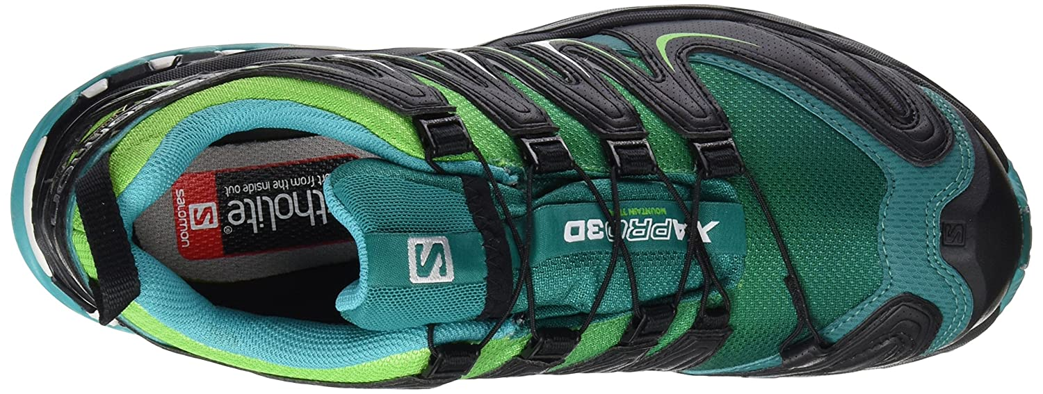 Salomon Damen L39071300 Traillaufschuhe, Grn (Veridian Green/Tonic Green/Teal Blu Veridian Green/Tonic Green/Teal Blu), 42 EU