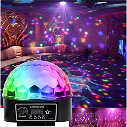 Luz LED disco Efecto Bola de Discoteca Magic DMX512 RGB Proyector ...