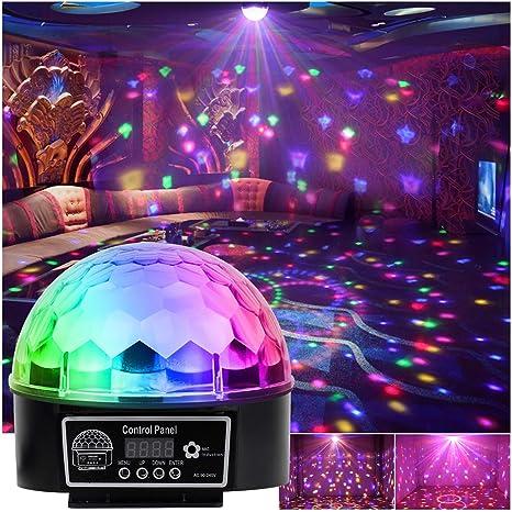 Luz LED disco Efecto Bola de Discoteca Magic DMX512 RGB Proyector ...