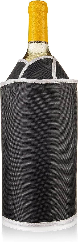 Vacuvin 38704606activo enfriador Exklusiv Negro enfriador de botellas, plástico, 4x 15x 21cm, 1 unidad