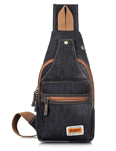 d26b4afc11a Leaper Denim Message Sling Bag Outdoor Cross Body Bag Messenger Bag for  Women (Denim-