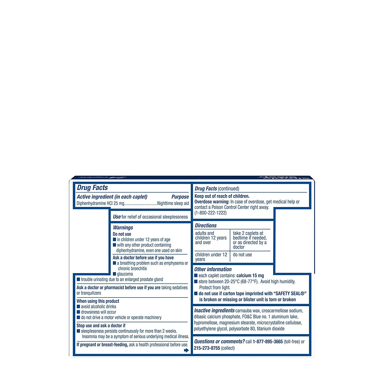 Amazon.com: Simply Sleep Nighttime Sleep Aid Caplets with 25 mg  Diphenhydramine HCl, Non-Habit Forming, 24 ct: Health & Personal Care