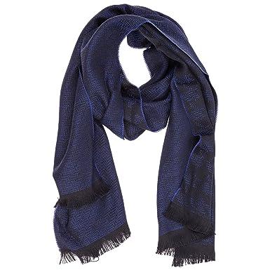speciale per scarpa bellezza primo sguardo Emporio Armani sciarpa uomo in lana blu: Amazon.it: Abbigliamento
