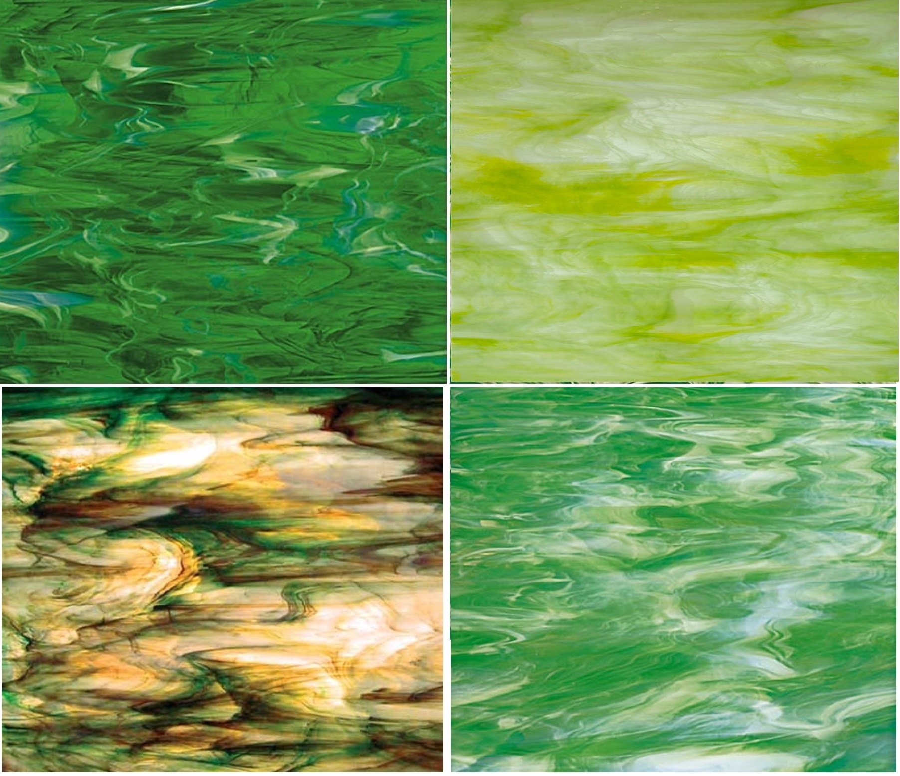GREEN Spectrum Stained Glass Pack