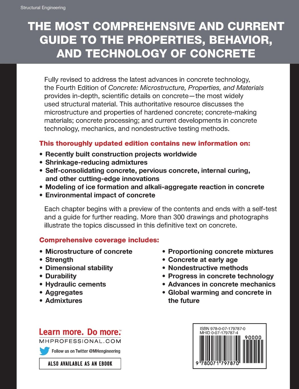 Concrete: Microstructure, Properties, and Materials