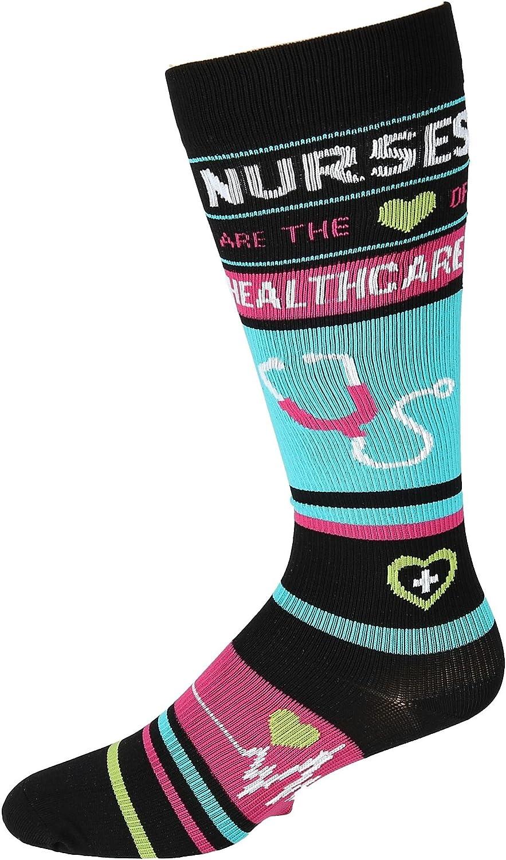 Think Medical Women's 10-14mmHG Compression Socks (Nurse Healthcare Black)