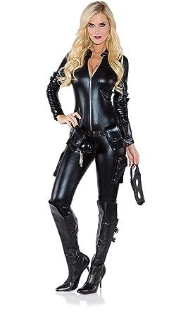 f565da2ec9a Amazon.com  Underwraps Costumes Women s Sexy Thief Costume  Clothing