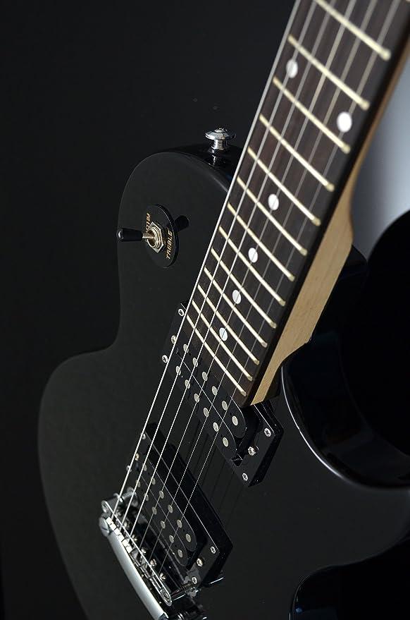 Ts-Ideen 5235 Guitarra eléctrica, construcción estándar, con funda, cuerdas de repuesto y púa: Amazon.es: Instrumentos musicales