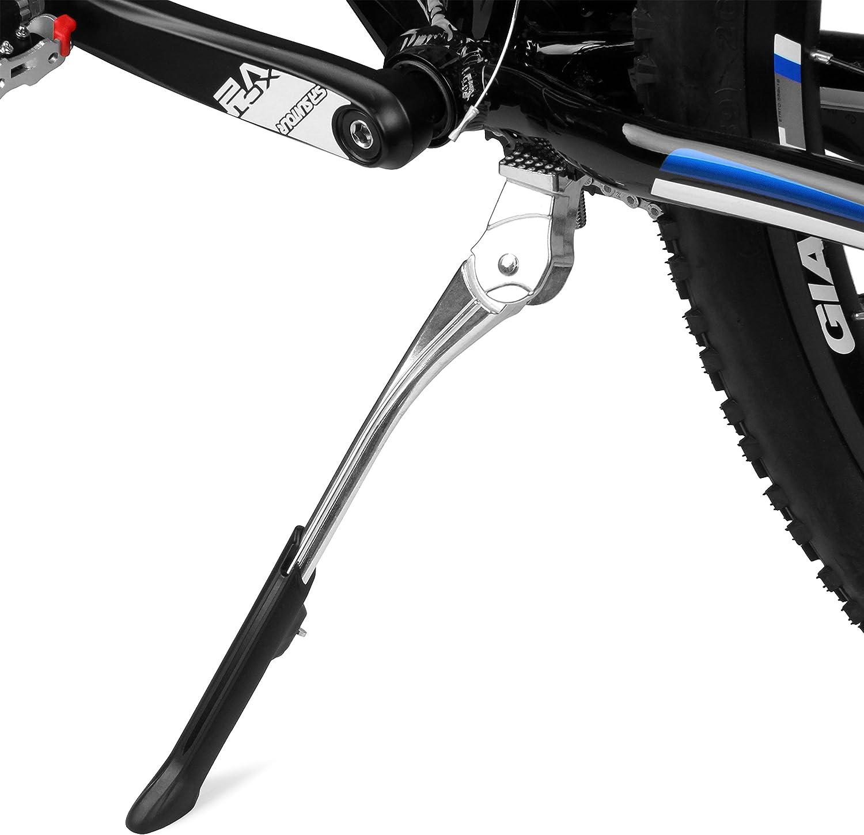 Piastra di fissaggio COMPLETA per cavalletti LATERALI o CENTRALI bicicletta bici