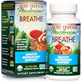 Host Defense, Breathe, 60 Capsules, Respiratory Support, Mushroom Supplement with Cordyceps, Reishi and Chaga, Vegan, Organic